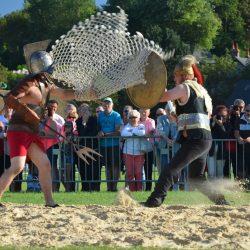 Combat de gladiateurs Spectacle équestre Quiberville D70_1791