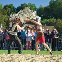 Combat de gladiateurs Spectacle équestre Quiberville D70_1802