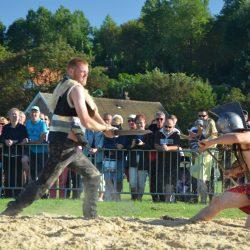 Combat de gladiateurs Spectacle équestre Quiberville D70_1806